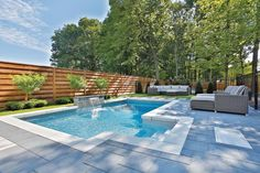 If you are working with the best backyard pool landscaping ideas there are lot of choices. You need to look into your budget for backyard landscaping ideas Backyard Pool Landscaping, Small Backyard Pools, Backyard Patio Designs, Swimming Pools Backyard, Outdoor Pool, Inground Pool Designs, Swimming Pool Designs, Rectangle Pool, Pool Landscape Design