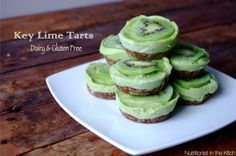 Cool, no-cook Key Lime Tarts - just a teaspoon of raw honey in each one! Makes a healthy splurge for after the Fast Metabolism Diet.