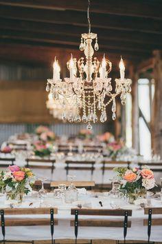 #chandelier  Photography: Artography  - www.artographyweddings.com.au  Read More: http://www.stylemepretty.com/2014/07/17/rustic-glam-cattle-station-wedding/