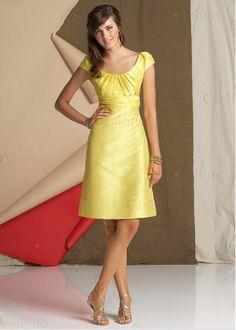 raso amarillo, vestidos de dama de honor