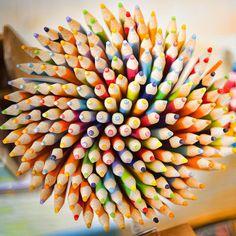 a bouquet of pencils - love