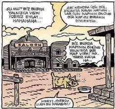 Vahşi Batı Kasabası Karikatürü Özer Aydoğan | Karikatürname