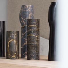 Bos vases by Christophe Delcourt Collection Particuliere: . Black Accents, Black Marble, Milano, Vases, Contemporary, Decoration, Instagram, Collection, Home Decor
