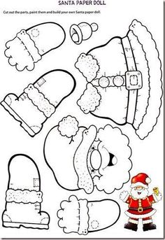 - NOEL - Coloriage et découpage pour occuper petit et grand Coloring and cutting to occupy small and big. Preschool Christmas, Christmas Paper, Christmas Crafts For Kids, Christmas Activities, Christmas Printables, Christmas Colors, Christmas Projects, Winter Christmas, Holiday Crafts