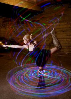 A beautiful LED hoop shot of Jessica Jones. She lives in Seattle, Washington. Photo by Chris Blakeley.