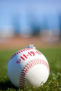 baseball engagement pics