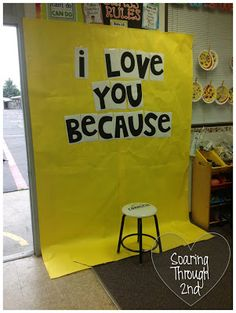 next year mother's day project-hold a small chalkboard with their answer - doing this!!!