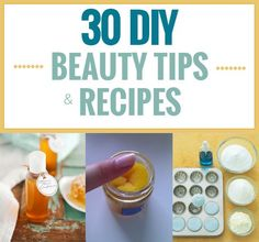 Beauty tips and recipes that you can do at home. Try these!