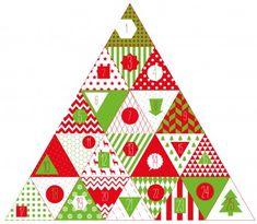 FREE printable Christmas advent calendar: 24 printable gift boxes (with tutorial!)