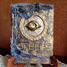 Altered book of spells for Halloween by Michelle Thomas