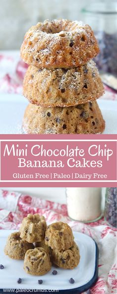 Mini Chocolate Chip Banana Cakes -Paleo Crumbs