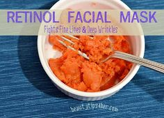 Retinol is a top anti-aging technique. Retinol is vitamin a. Carrots have the most vitamin a. BENEFITS: Retinal fights fine lines, photodamage, increase cell production, deep wrinkles pour size and evens skin tone. Whether you're looking to prevent future signs of aging or hoping to appear years younger, here's a homemade Retinol face mask to suit your needs.