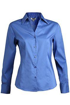 67c6efbc4c4 Buy Edwards Garment Women s V-Neck Long Sleeve Stretch Blouse online