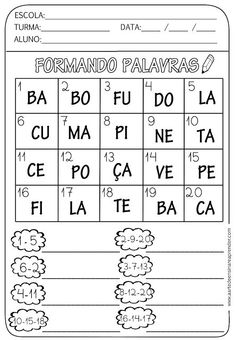Adaptados Brownie brownie z mikrofali Portuguese Lessons, Learn Portuguese, Spanish Lessons, Professor, Homeschool, Classroom, Teaching, Activities, 1