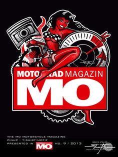 PinUp Speedangel for the german Motorcycle Magazine MO. Cafe Racer, Bobber, Chopper, Racebike, Dirtbike, Riders