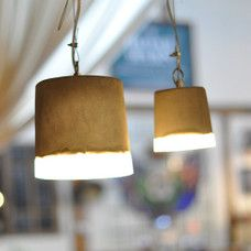 View Industrial Concrete Pendant Light