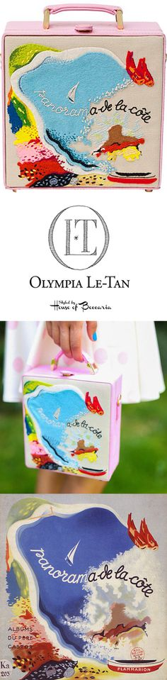"""~Olympia Le-Tan SS 2014 Bag SS Inspired By 1938, Alexandra Exter, Cover Illustration For The Book, """"Panorama de la cote"""" by Marie Colmont 