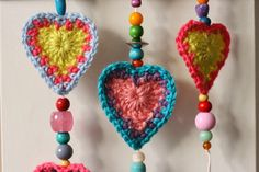 I managed to finish my heart dingle dangles in time for the romantic day and they are hanging, happily from my fireplace now.   Most che...