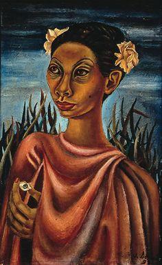 Juan Soriano. Retrato de Rebeca Uribe con el ojo de Marta, 1937 Óleo sobre tela 48 x 29.5 cm