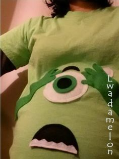DIY Halloween Costume - Mike Wazowski from Monsters, Inc. Halloween Customs, Halloween Ideas, Mike Wazowski Costume, Cute Costumes, Monsters Inc, Hallows Eve, Holidays And Events, Little Babies, Creative Ideas
