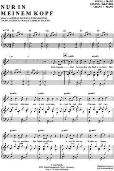 Nur in meinem Kopf (Klavier + Gesang) Andreas Bourani [PDF Noten] >>> KLICK auf die Noten um Reinzuhören <<< Noten und Playback zum Download für verschiedene Instrumente bei notendownload Blockflöte, Querflöte, Gesang, Keyboard, Klavier, Klarinette, Saxophon, Trompete, Posaune, Violine, Violoncello, E-Bass, und andere ...