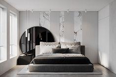 AP II on Behance Modern Luxury Bedroom, Luxury Bedroom Design, Master Bedroom Interior, Modern Master Bedroom, Bedroom Furniture Design, Stylish Bedroom, Master Bedroom Design, Luxurious Bedrooms, Home Interior Design