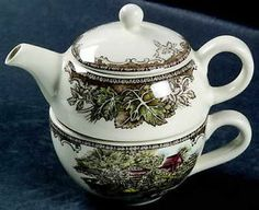 Johnson Brothers Friendly Village Individual Teapot Cup