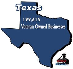 Texas currently represents 8% of the total businesses in the United States and 8.2% of the total Veteran Owned Businesses in the United States. 9.2% of the total number of businesses in Texas are majority-owned (51%+) by veterans which is roughly 2% (+.16%) higher than the national state average of 9.04%.