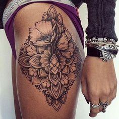 Beautiful Floral Mandala Tattoo | Venice Tattoo Art Designs