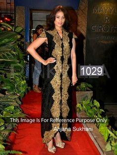 Designer Party Wear #AnjanaSukhani Black Suit    #bollywoodfashion #celebrity #craftshopsindia