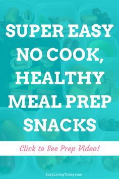 Fitness & meal prep doesn't have to be hard! These super easy & healthy no cook meal prep recipes are the perfect snacks on the go. Stay on track with your weight loss program or 21 day fix plan without the stress.  #MealPrep #mealprepsnacks #healthysnacking #healthysnacks #healthysnack #21dayfixapproved  #21dayfixrecipes #21dayfix #whole30recipes