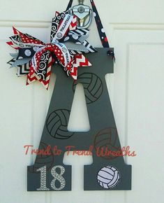 "The post ""Wooden Volleyball Letter Volleyball by TrendtoTrendWreaths"" appeared first on Pink Unicorn Senior gifts Volleyball Locker Signs, Volleyball Senior Gifts, Volleyball Locker Decorations, Volleyball Crafts, Volleyball Room, Volleyball Party, Volleyball Posters, Senior Night Gifts, Coaching Volleyball"