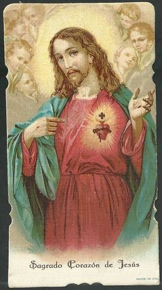 Christ showing his Sacred Heart. Heart Of Jesus, Jesus Is Lord, Jesus Christ, Wellcome Collection, Christian Cards, Santa Teresa, In Christ Alone, Blessed Mother, Sacred Heart