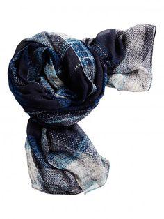 Sandwich fashion Fall '16 - Checkered scarf - Blue Nights