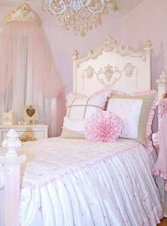 Miss Princess Bed Linens ~ Rosenberry Rooms - Beautiful, I love the whole room, the bed, the chandelier, all of it! Bedroom Sets, Girls Bedroom, Bedroom Decor, Bedding Sets, Bedroom Furniture, Fancy Bedroom, Bedroom Benches, Bedroom Curtains, Funky Furniture