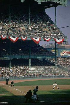 It's the 1963 World Series at Yankee Stadium.