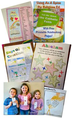 free catholic notebooking pages- tell me about the catholic faith