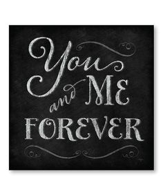 'You and Me Forever' Wrapped Canvas