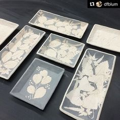 Work in progress by @dfblum! Thanks for using GR Pottery Forms, we are excited to see these traditional slipware decorations when they are done! They are going to be gorgeous! ・・・ #grpotteryforms #slipware #handbuiltceramics #natureinspired #handmade #pottery#ceramics #potterystudio #potterytools #makersmovement #instapottery
