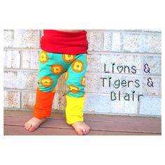 Handmade Lillestoff Wild Blooms Fart Sacks - Size 3M to 3T - Toddler Legging/Baby Legging/Grow With Me Pants/Cloth Diaper Pants on Etsy, $22.00