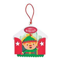 Elf+in+Workshop+Ornament+Craft+Kit+-+OrientalTrading.com