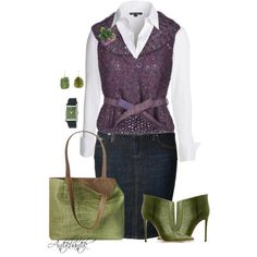 A fashion look from September 2014 featuring NIC+ZOE blouses, Ermanno Scervino cardigans and True Religion skirts. Browse and shop related looks.