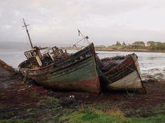 Scotland, UK: Boats near Tobermory