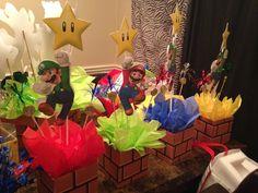 Mario Table centerpieces