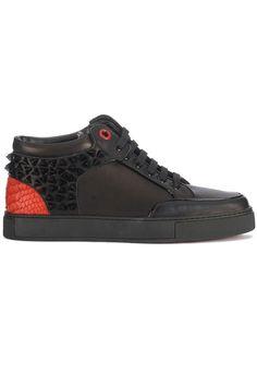 Hippe Royaums Kilian Revo Black/Red (zwart) Heren sneakers van het merk royaums . Uitgevoerd in zwart.