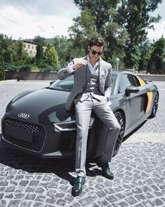 Beautiful Men Faces, Gorgeous Men, Car Poses, Car Gadgets, Men Formal, Bmw, Photo Poses, Stylish Men, Shades Of Grey