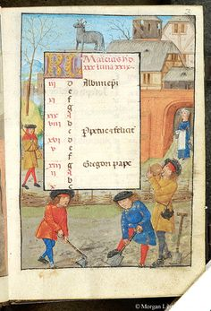 Book of Hours, MS S.7 fol. 3r - Images from Medieval and Renaissance Manuscripts - The Morgan Library & Museum