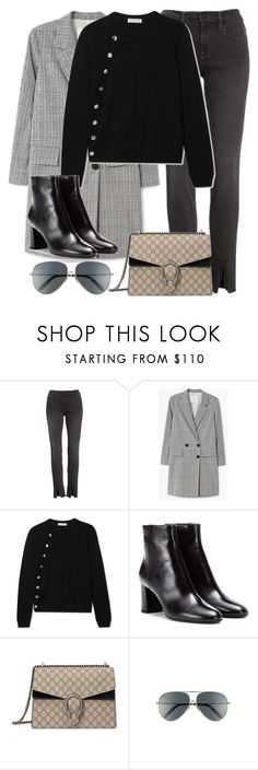 """Untitled #3340"" by elenaday on Polyvore featuring Frame, MANGO, Altuzarra, Yves Saint Laurent, Gucci and Victoria Beckham"