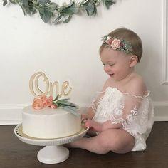 Newborn Baby boho Floral headband first birthday blush crown 1st Birthday Photoshoot, 1st Birthday Party For Girls, 1st Birthday Decorations, Girl Birthday Themes, Baby Birthday, Birthday Ideas, Birthday Cakes, Birthday Gifts, Birthday Girl Pictures