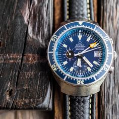 There's so much history and detail to appreciate in this vintage Omega Sea Master Big Blue.